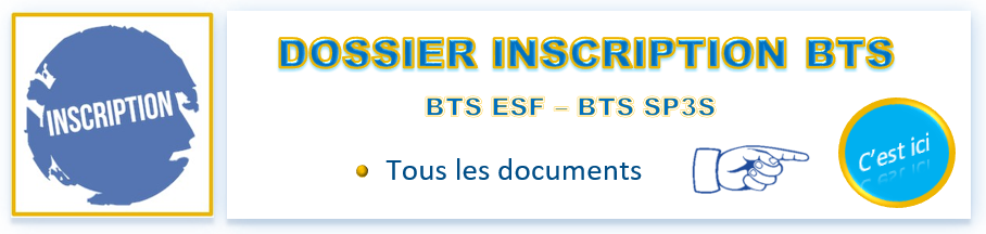Inscriptions BTS 2017